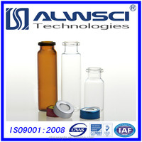 China 20ml vial and flip off cap with PTFE silicone septa tubular vial