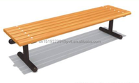 Outdoor Long Wood Bench Chair Backless Cast Iron Leg Patio Bench Used Park Wood and Metal Lesirue Bench
