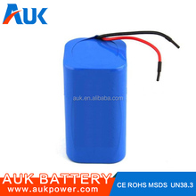 Mini Flashlight 3.7V 18650 8000mAh Li-ion Battery Pack