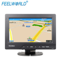 7 inch tft lcd color panel 4 Wire Resistive touch screen car monitor with VGA HDMI AV inputs