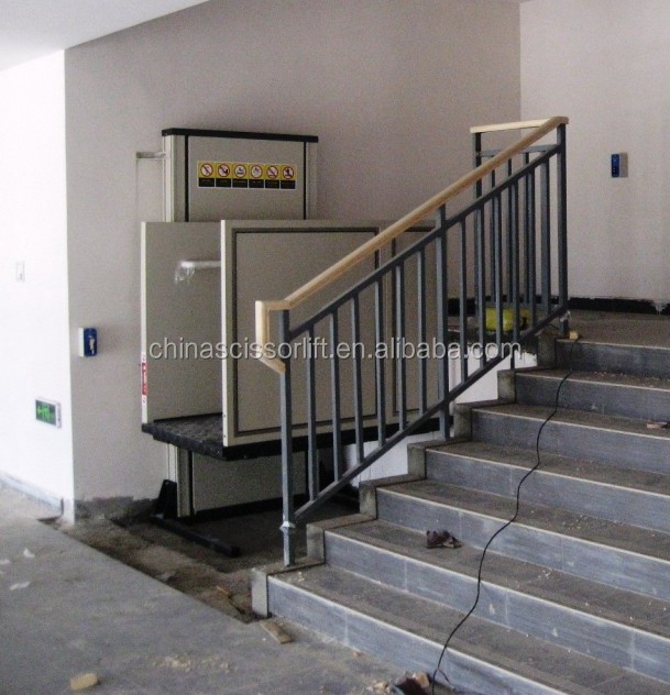 Electric Hydraulic Wheelchair Lift : Electric vertical disabled people scooter wheelchair lifts