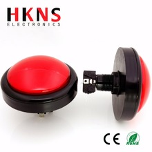 100mm red jumbo LED push button with micro switch for arcade machine CE RoHS