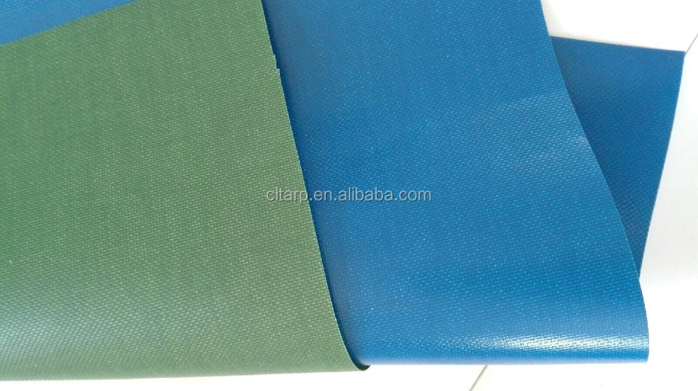PVC Coated tarpaulin with 480gsm Blue color