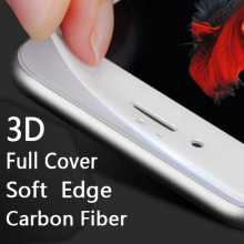 New 2017 Carbon fiber 3D Full Cover tempered glass Soft TPE edge for Xiaomi Redmi 4 / redmi 4 prime 4 Colors