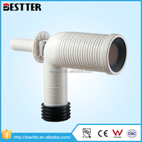 Different type PP/EPDM bathroom toilet plumbing traps wc pan connector sewer