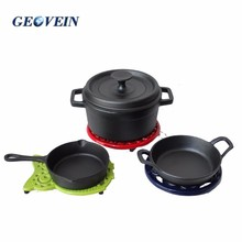 cast iron cookware set german style used ceramic enamal kitchenware
