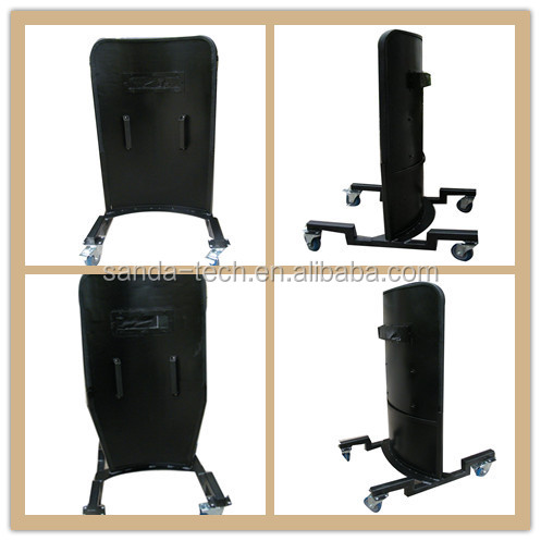 bullet proof shield for police and army bullet resistant shield with wheels