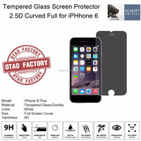Factory Price 2.5D Curved Full Clear Tempered Glass Screen Protector for iPhone, Corning Gorilla Glass 0.33mm ultra thickness