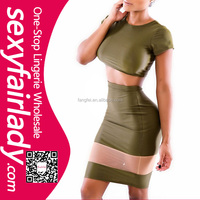 2015 Cheap green spliced sexy bodycon dresses