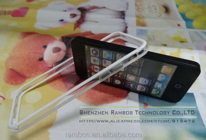 Multi Color Ultra Thin TPU Crystal Clear Transparent Soft Protective Silicon Rubber Frame Bumper for iPhone 6