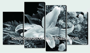 3 panel canvas lily flower wall art, Canvas Wall Art