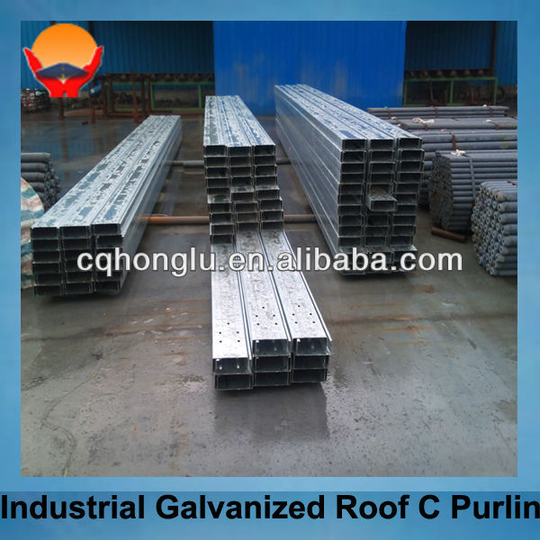 Industrial galvanized roof C purline