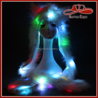 Customized Quality Best-Selling Faux Fur Animal Outdoor Lighting Led Caps Hats