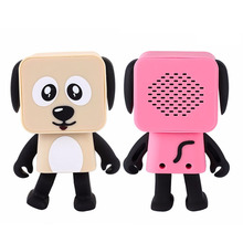 Mini Dog Mini Wireless Portable Dancing Robot Animal Dog Speaker For Music