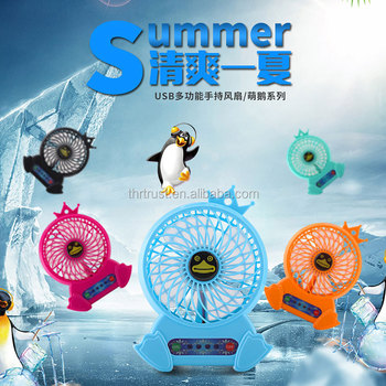 Hot summer promotional gift OEM logo mini fan Best price Rechargeable power bank mini usb fan