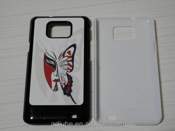 Wholesale sublimation hard blank PC phone case for Samsung Galaxy S2 i9100 with aluminum sheet