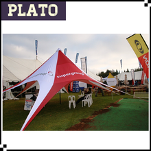 White&Red star shelter canopy/outdoor large event tents for sale
