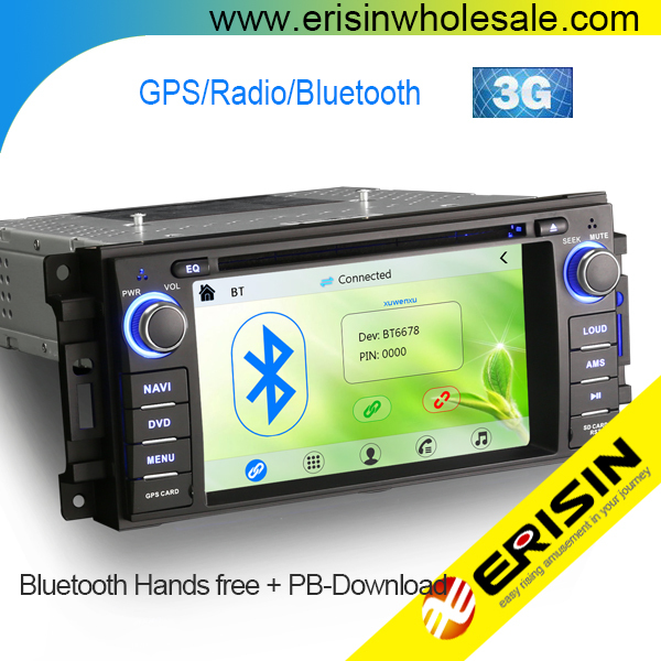 Erisin ES6061M 6.2 inch Car Radio DVD Player with GPS Bluetooth for Jeep Compass