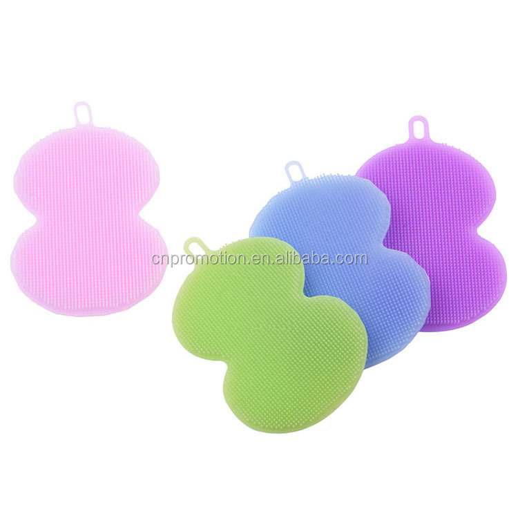 Gourd shaped brush cleaning mat silicone dish brush fruit and vegetables silicone brush