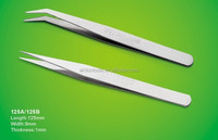 stainlee steel tweezer for medical set 125A/125B