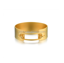 2017 New Design Fashion Jewelry, Gold Plated Stainless Steel Lock Up Bangle