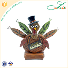 Thanksgiving Gifts Polyresin Turkey Decoration With A Hat