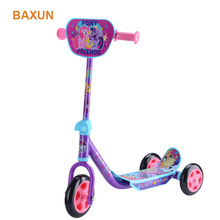Factory directly price 3 wheel scooter plastic kids scooter with customized hangtag