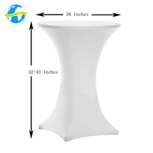 Promotion Event Stretch Spandex Polyester Round Decoration Table Top Cover Elastic Print