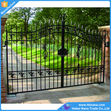 Hot sale Galvanized iron metal gates / luxury wrought iron gate design