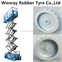 26 ft Narrow Electric Scissor Lift 16x5x12 Tire Fill /Type Solid Non-marking tyre 16x5 for Genie GS2630-GS2646