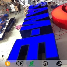 Factoy Outlet Outdoor stainless steel LED 3d letter sign logo