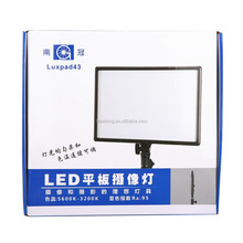 portable and papery Pad LED video LIGHT Ra 95 NanGuang CN-LUXPAD43 Bi-color led light