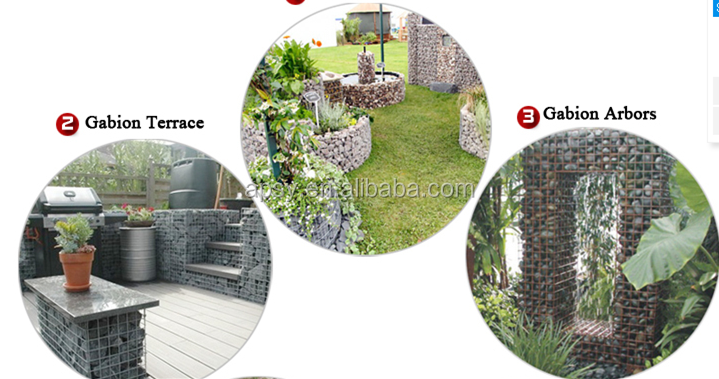 1mX1mX1m Galfan galvanized Zn welded stone gabion basket flexible wild roof gabion bench and gabion steps