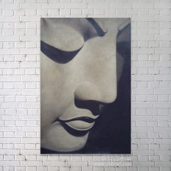 Buddha face art oil painting