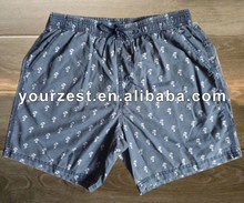 Men's WASHED OUT coton / NYLON palmier impression BOARDSHORT