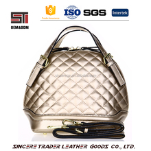 Popular faux leather women tote bag High quality pu top branded handbags for wholesale