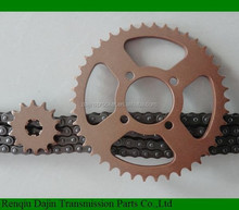 Dajin 1045 motorcycle sprocket for honda wave 125 /shineray 500cc parts /motorcycle chain and sprocket