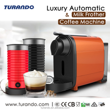 Capsule Espresso Coffee Machine with Milk Frother for Cappuccino or Latte,Automatic coffee machine with one touch milk foamer