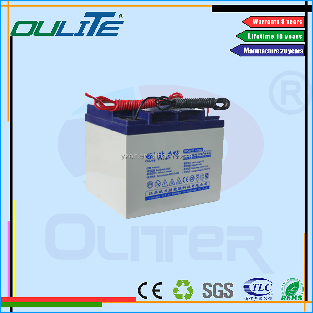 Good Manufacturer 12V 35Ah free maintenance Battery for UPS