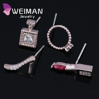 Factory direct sale women fashion high-heeled perfume rhinestone earrings