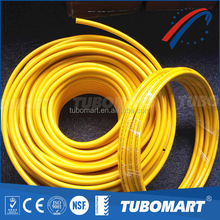 Tubomart high quality yellow pe composite gas pipe pe plastic pipe for sale