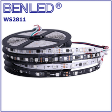 BenLed SMD 5050 WS 2811 Pixel IP20 DC12V 10MM Digital Addressable Full Color RGB 60 144 Leds Flexible LED WS2811 IC Strip Tape