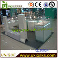 customized glass display showcase/stand/cabinet,jewelry/watch glass display