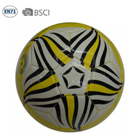 Star logo pvc leather soccer ball