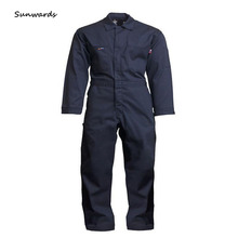 Hot selling 100% cotton fireproof suit uniform and welding workwear