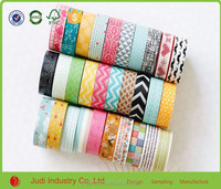 Colorful Custom Printed Washi Tape Decorative Masking Tapes For Kids