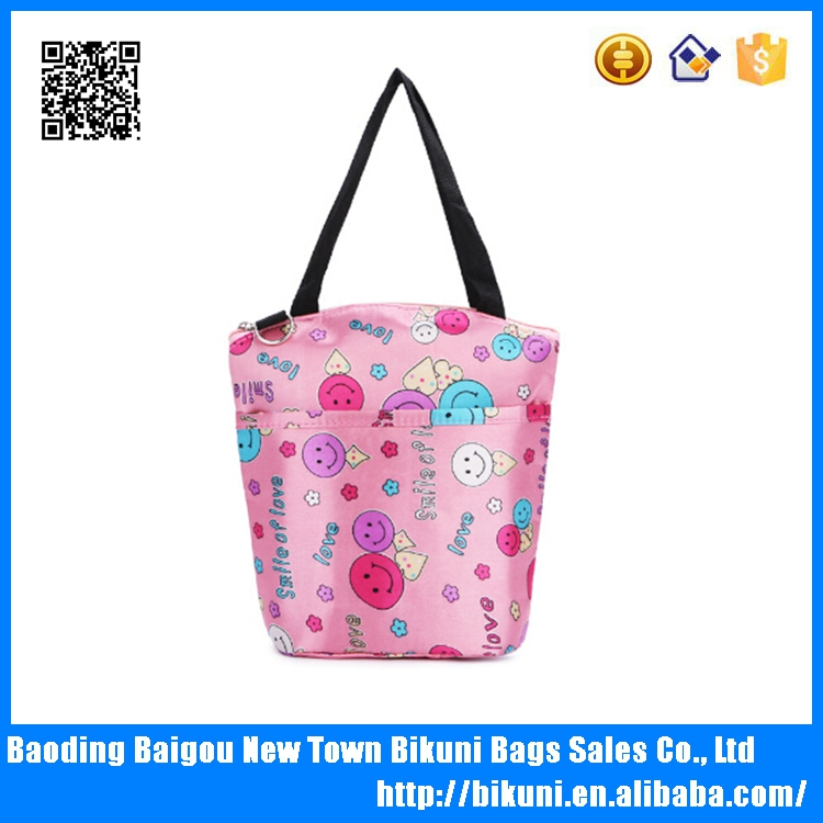Alibaba hot sale fashion fabric lunch cooler bag handbag baby meal diaper bag