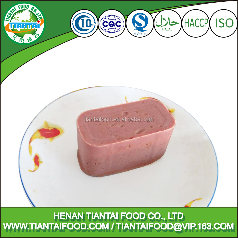 30% deposit canned beef luncheon meat with high quality