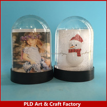 Acrylic Water Globe with Photo insert snow globe with glitter float inside