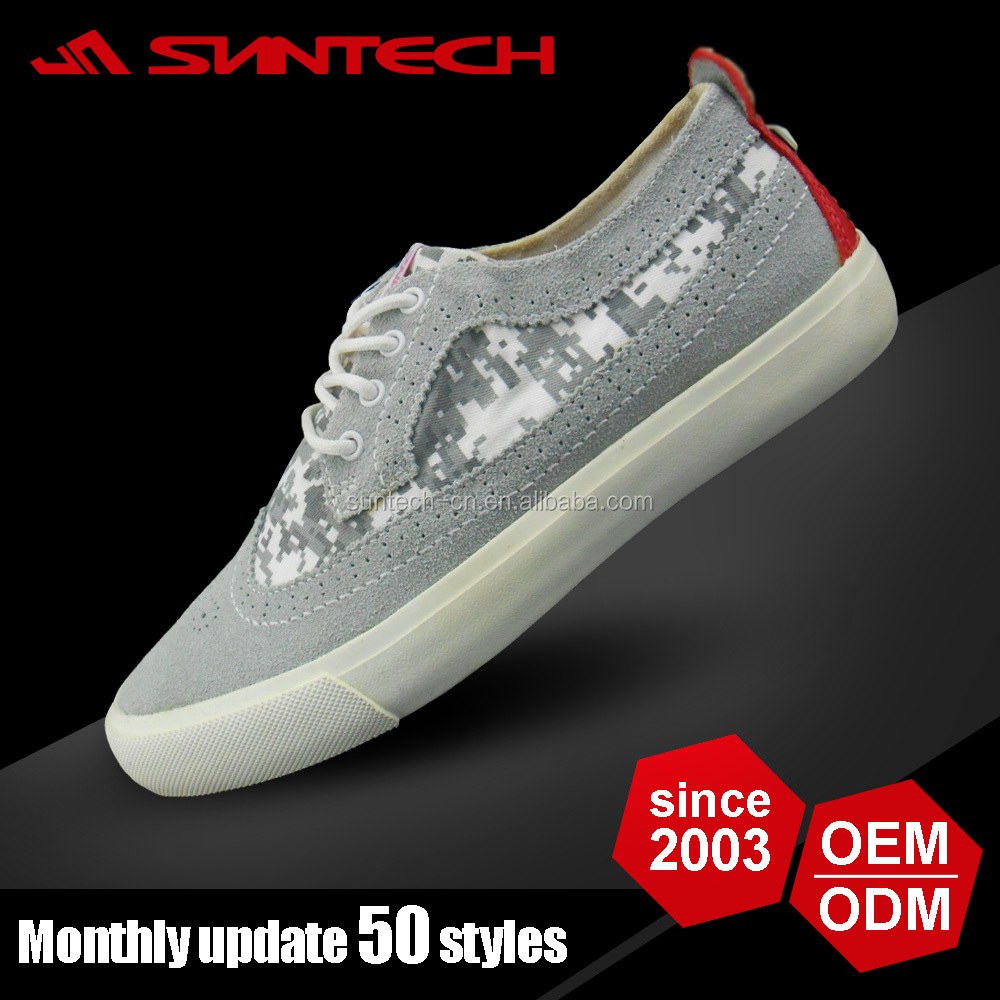 Gentle grey men canvas shoes